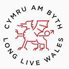 Welsh dragon monoline by Grafiker