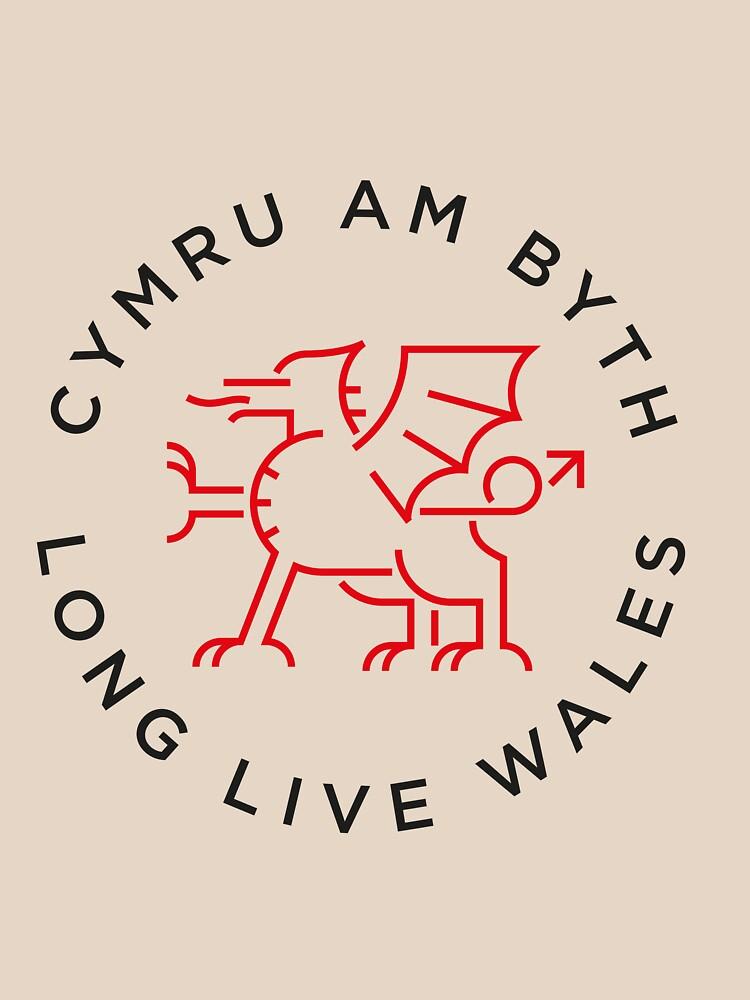 Welsh dragon monoline de Grafiker