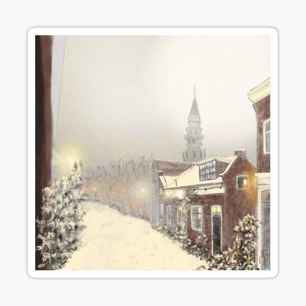 Snowy Haarlem Sticker