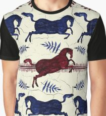 Ancient Greek Fresco - Navy & Red  Graphic T-Shirt