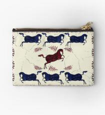 Ancient Greek Fresco - Navy & Red  Studio Pouch