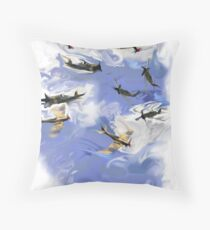 'Never in the field of human conflict has so much been owed by so many to so few'.Winston Churchill. Throw Pillow