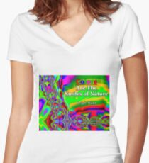 Colors Are The Smiles of Nature Fitted V-Neck T-Shirt
