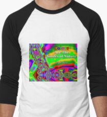 Colors Are The Smiles of Nature Baseball ¾ Sleeve T-Shirt