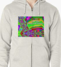 Colors Are The Smiles of Nature Zipped Hoodie