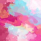 Colorful Abstract - pink and blue pattern by floartstudio