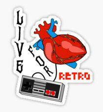 LiVE fOR rETRO, Retro Video Games Lovers Sticker