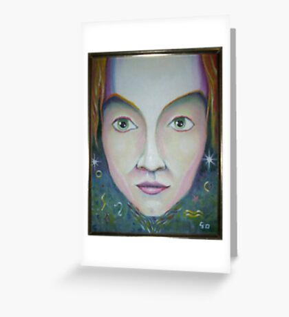 Space Face Greeting Card