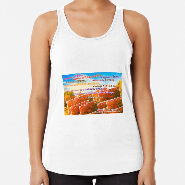 Continue Considering These Things Racerback Tank Top