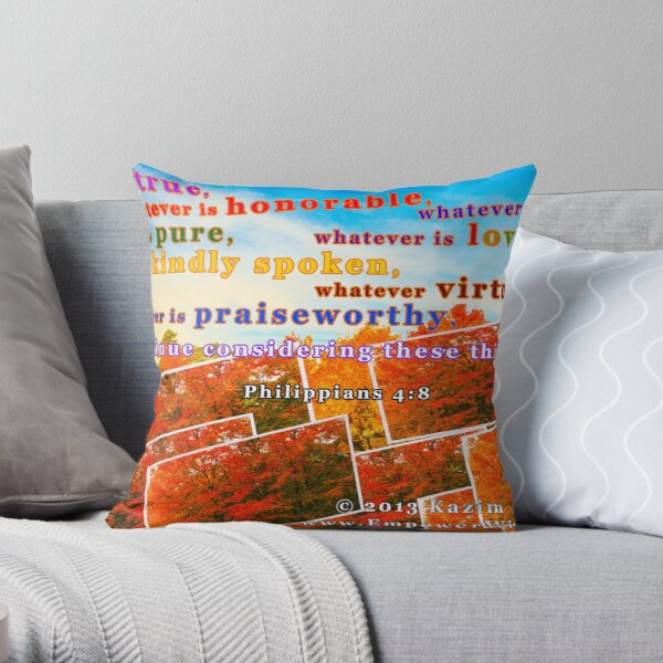 Continue Considering These Things Throw Pillow