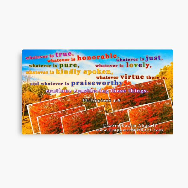 Continue Considering These Things Canvas Print