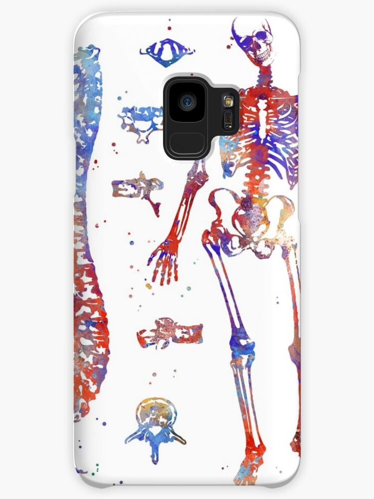 Fundas y vinilos para Samsung Galaxy «Huesos de anatomía humana ...