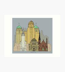 Buffalo Skyline Art Print