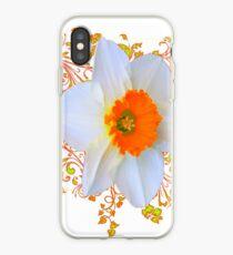 SPRING DAFFODIL SCROLLS ART  iPhone Case