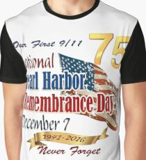 Pearl Harbor Day 75th Anniversary Logo Graphic T-Shirt