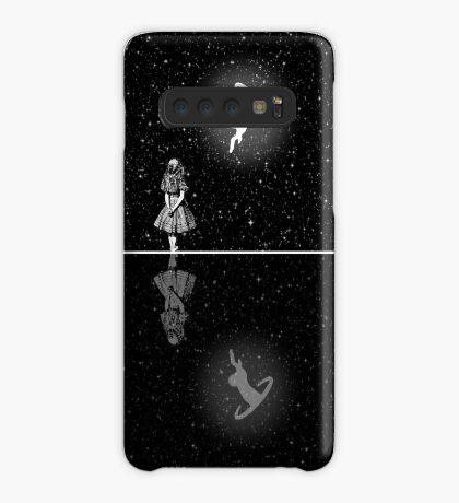 FollowThe White Rabbit - Noche estrellada - Blanco y negro Funda/vinilo para Samsung Galaxy