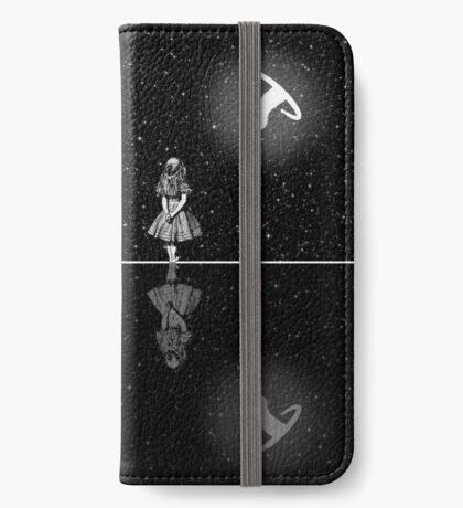 FollowThe White Rabbit - Noche estrellada - Blanco y negro Funda tarjetero para iPhone