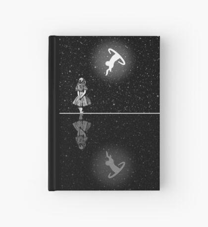 FollowThe White Rabbit - Noche estrellada - Blanco y negro Cuaderno de tapa dura