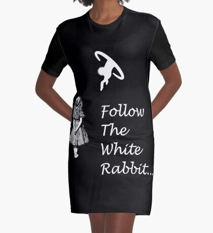 Seguir SigueEl Conejo Blanco Vestido camiseta