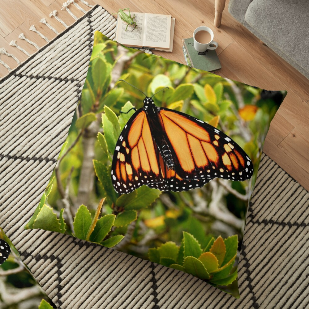 Butterfly in Spring Floor Pillow