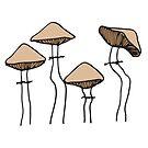 Group Of Mushrooms | Nature Beauty by C. Tarantino