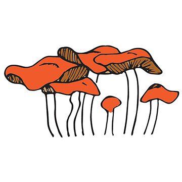 Orange Mushroom Group | Food, Nature, Art by SaTara