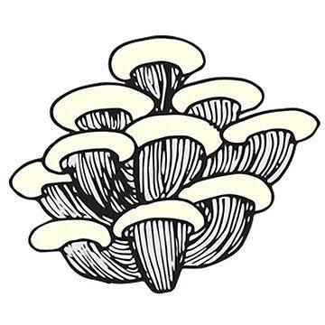 Nature, Food, Mushrooms | Nature Illustration by SaTara