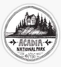 Acadia National Park Circle Sticker