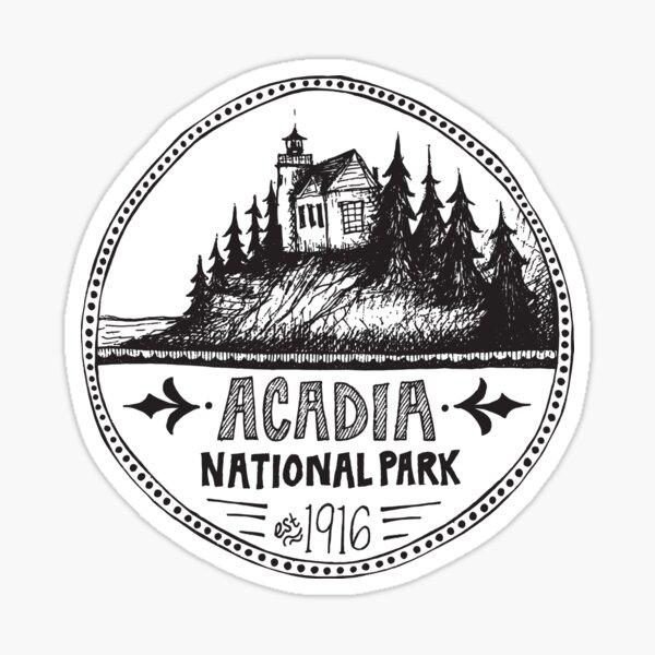 Acadia National Park Circle Sticker