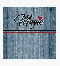 Magic Heart Stonewashed Denim Photographic Print