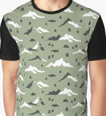 Green mountains  Graphic T-Shirt
