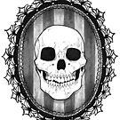 Inktober- Victorian Lace Skull by FaerytaleWings