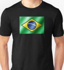 Brazilian Flag - Brazil - Metallic Unisex T-Shirt