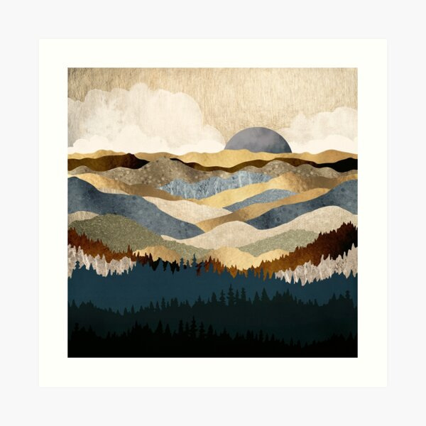 Golden Vista Art Print