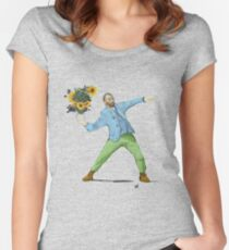 Van Goghsky Tailliertes Rundhals-Shirt