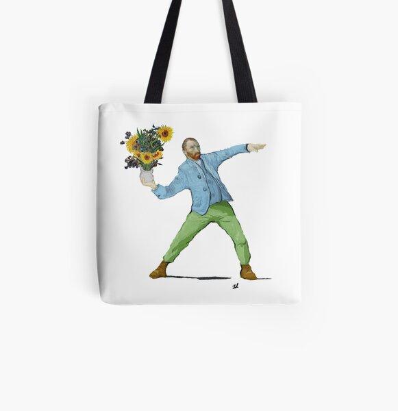 Van Goghsky All Over Print Tote Bag