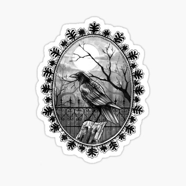 Inktober-Raven Sticker