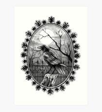 Inktober-Raven Art Print