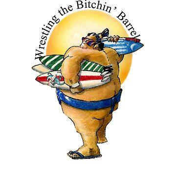 Wrestling the Bitchin' Barrels Surfer's Design by pjwuebker