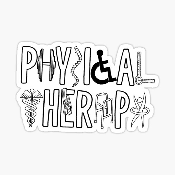 Physical Therapy Logo Sticker