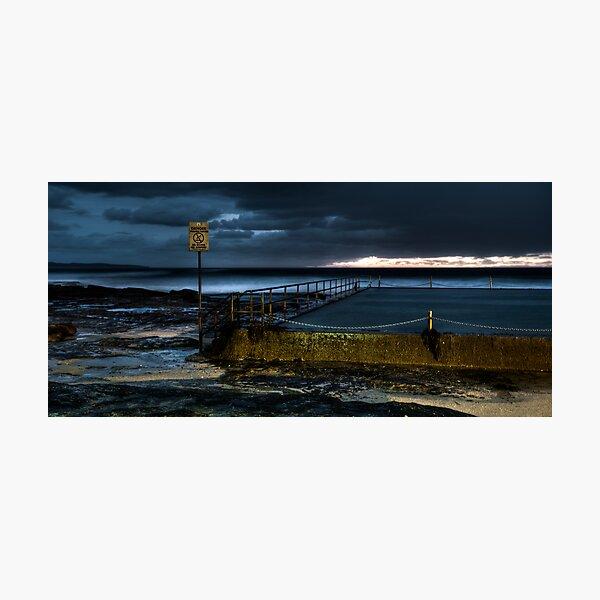 Cronulla Pool -Don't Dive Photographic Print