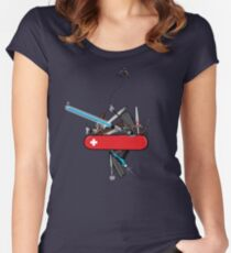 The geek army knife Women's Fitted Scoop T-Shirt