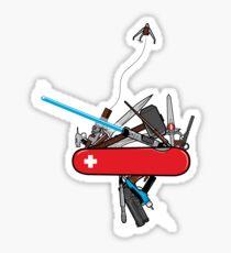 The geek army knife Sticker
