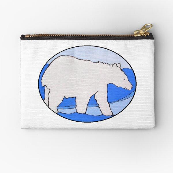 Spirit Bear Oval Zipper Pouch