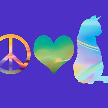 Peace, Love & Cats by HeartZenMinds