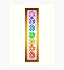 The Seven Chakras - Series VI Artwork I Golden Yellow.II Art Print