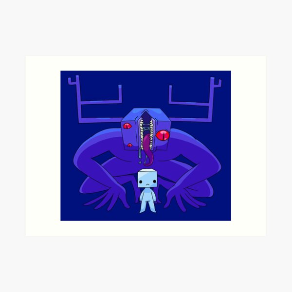 Dom Cube and the Predator Art Print