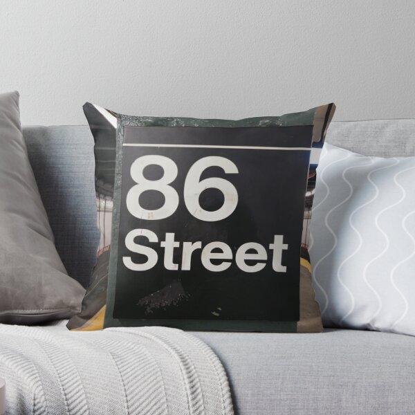 New York, Manhattan, Brooklyn, New York City, architecture, street, building, tree, car, pedestrians, day, night, nightlight, house, condominium,  Throw Pillow