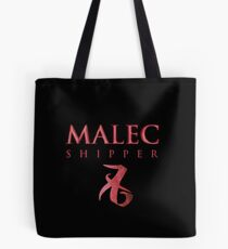 Malec Shipper mit Liebe Rune - Alec Lightwood und Magnus Bane - Matthew Daddario und Harry Shum Jr. - Shadowhunters Tote Bag