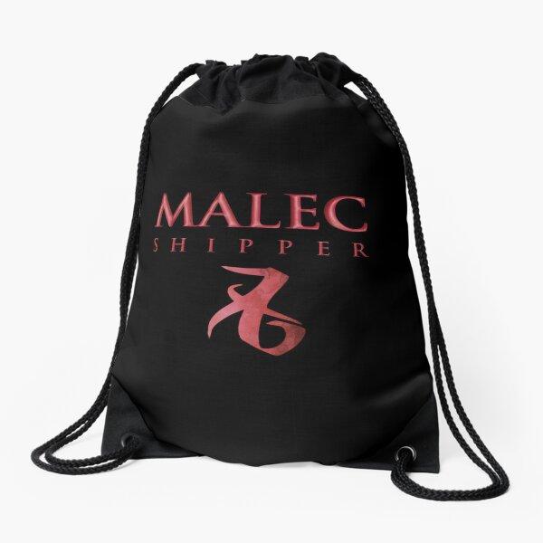 Malec shipper with love rune - Alec Lightwood and Magnus Bane - Matthew Daddario and Harry Shum Jr. - Shadowhunters Drawstring Bag